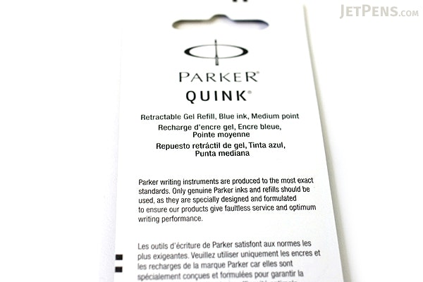 Parker Gel Pen Refill - Medium Point - Blue - Pack of 2 - PARKER 30526PP