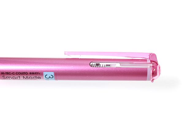 Pilot Hi-Tec-C Coleto Smart 3 Color Gel Ink Multi Pen Body Component - Metallic Pink - PILOT LHKCS15C-MP