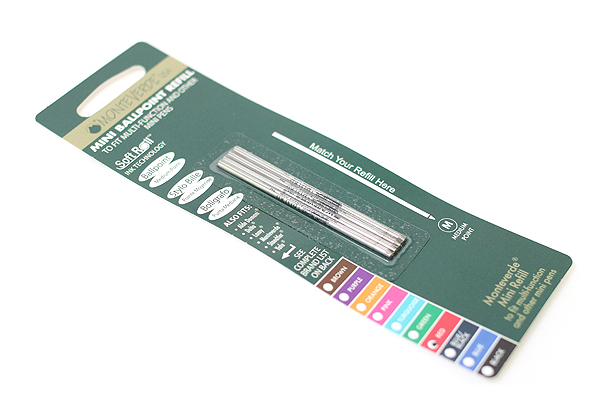 Monteverde Soft Roll Ballpoint Pen Refill - D1 - 0.7 mm - Red - Pack of 4 - MONTEVERDE D132RD