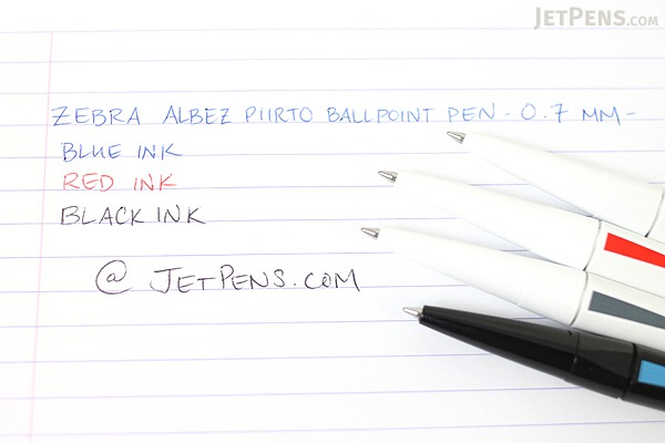 Zebra Arbez Piirto Ballpoint Pen - 0.7 mm - Black Body with Blue Accent - Black Ink - ZEBRA BA66-BK