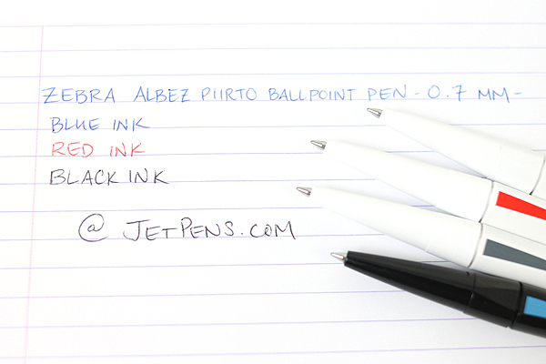 Zebra Arbez Piirto Ballpoint Pen - 0.7 mm - Black Body with Blue Accent - Black Ink - ZEBRA BA66-BK