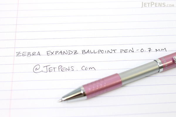 Zebra Expandz Ballpoint Pen - 0.7 mm - Pink Body - Black Ink - ZEBRA 24570