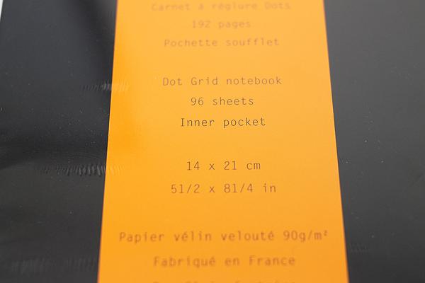 "Rhodia Webnotebook - 5.5"" X 8.25"" - 96 Sheets - 5 mm Dot Grid - Black - Bundle of 2 - RHODIA 118769 BUNDLE"