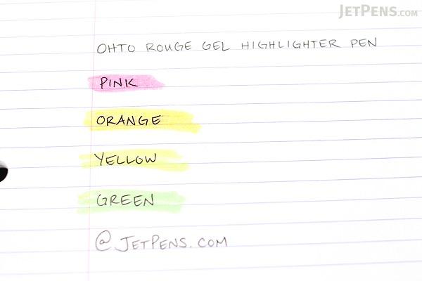 Ohto Rouge Gel Highlighter Pen - Orange - OHTO M-150R-KO
