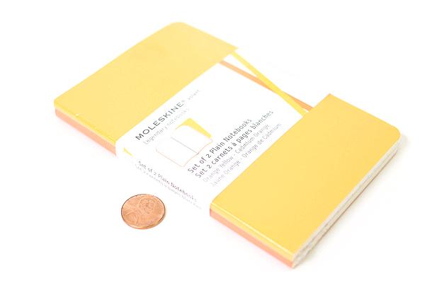 """Moleskine Volant Notebook - Ruled - Pocket (3.5"""" x 5.5"""") - Set of 2 - Orange Yellow & Cadmium Orange - MOLESKINE 978-88-6293-783-2"""