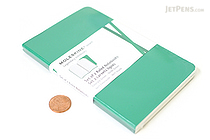 "Moleskine Volant Notebook - Ruled - Pocket (3.5"" x 5.5"") - Set of 2 - Emerald Green & Oxide Green - MOLESKINE 978-88-6293-784-9"