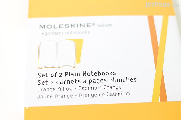 "Moleskine Volant Notebook - Plain 80 Pages - Pocket (3.5"" X 5.5"") - Set of 2 - Orange Yellow & Cadmium Orange - MOLESKINE 978-88-6293-785-6"