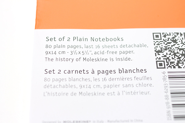 "Moleskine Volant Notebook - Plain 80 Pages - Pocket (3.5"" X 5.5"") - Set of 2 - Orange Yellow & Cadmium Orange - MOLESKINE 978-88-6293-785-6"