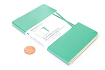 "Moleskine Volant Notebook - Plain 80 Pages - Pocket (3.5"" X 5.5"") - Set of 2 - Emerald Green & Oxide Green - MOLESKINE 978-88-6293-786-3"