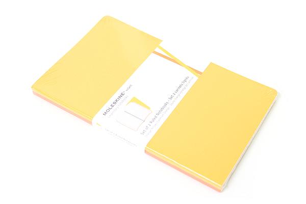 """Moleskine Volant Notebook - Ruled - Large (5"""" x 8.25"""") - Set of 2 - Orange Yellow & Cadmium Orange - MOLESKINE 978-88-6293-788-7"""