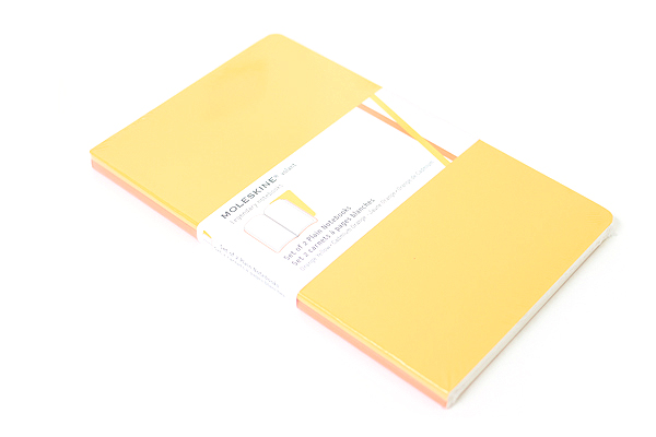 "Moleskine Volant Notebook - Plain - Large (5"" x 8.25"") - Set of 2 - Orange Yellow & Cadmium Orange - MOLESKINE 978-88-6293-790-0"