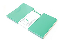 "Moleskine Volant Notebook - Plain - Large (5"" x 8.25"") - Set of 2 - Emerald Green & Oxide Green - MOLESKINE 978-88-6293-791-7"