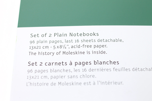 "Moleskine Volant Notebook - Plain - Large (5"" x 8.25"") - Set of 2 - Emerald Green & Oxide Green - MOLESKINE 978-88-6293-791-7"