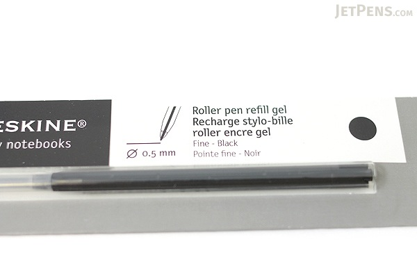 Moleskine Roller Pen Gel Ink Refill - 0.5 mm - Black - MOLESKINE 978-88-6293-870-9