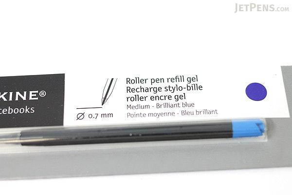 Moleskine Roller Pen Gel Refill - 0.7 mm - Brilliant Blue - MOLESKINE 978-88-6293-871-6