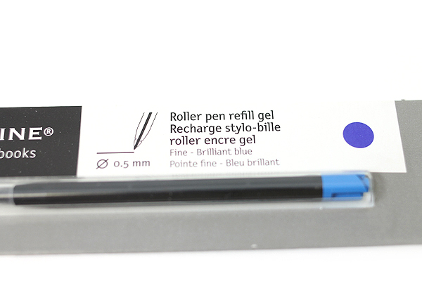 Moleskine Roller Pen Gel Refill - 0.5 mm - Brilliant Blue - MOLESKINE 978-88-6293-872-3