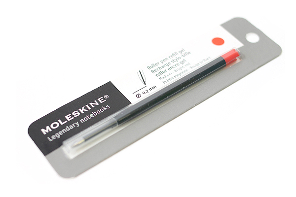 Moleskine Roller Pen Gel Refill - 0.7 mm - Bright Red - MOLESKINE 978-88-6293-873-0