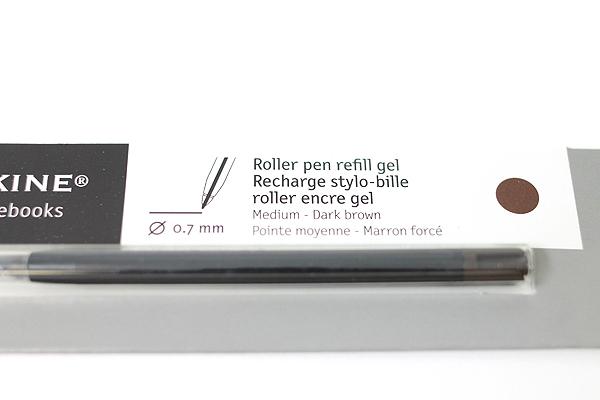 Moleskine Roller Pen Gel Refill - 0.7 mm - Dark Brown - MOLESKINE 978-88-6293-876-1