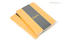 "Rhodia Webnotebook - 5.5"" X 8.25"" - 96 Sheets - 5 mm Dot Grid - Orange - Bundle of 2 - RHODIA 118768 BUNDLE"