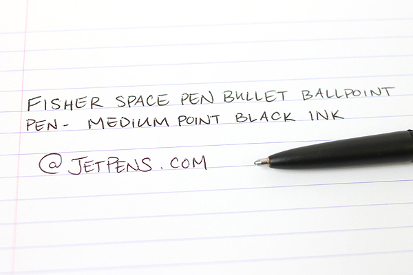Fisher Space Pen Bullet Ballpoint Pen - Medium Point - Matte Black Body - FISHER SPACE PEN 400B