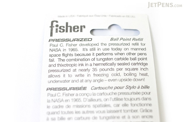 Fisher Space Pen PR Series Pressurized Ballpoint Pen Refill - Medium Point - Brown - FISHER SPACE PEN SPR8