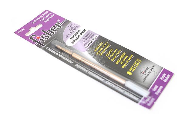 Fisher Space Pen PR Series Pressurized Ballpoint Pen Refill - Medium Point - Purple - FISHER SPACE PEN SPR6