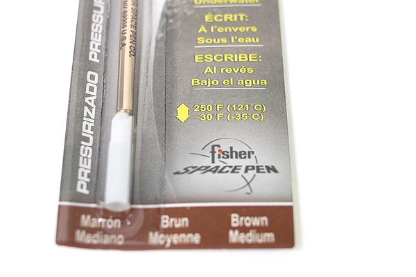 Fisher Space Pen PR Series Pressurized Ballpoint Pen Refill - Medium Point - Brown - FISHER SPACE PEN SPR8