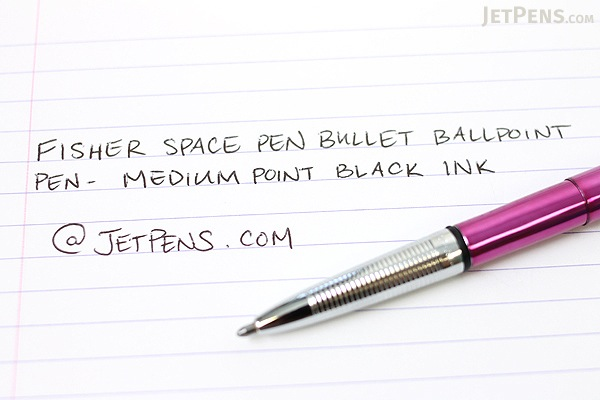 Fisher Space Pen Bullet Ballpoint Pen - Medium Point - Fuchsia Flurry Pink Body - FISHER SPACE PEN 400FF