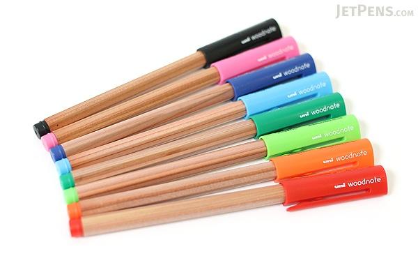 Uni Woodnote Gel Ink Pen - 0.38 mm - Blue Ink - UNI UM28038.33