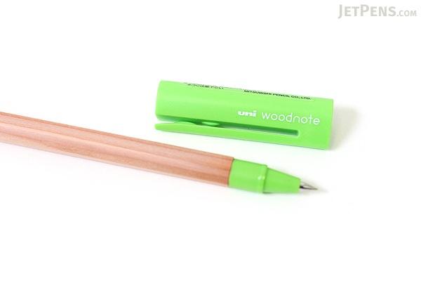 Uni Woodnote Gel Ink Pen - 0.38 mm - Lime Green Ink - UNI UM28038.5