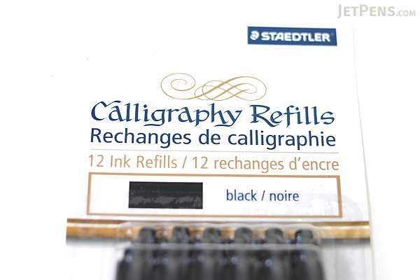 Staedtler Calligraphy Refills - Black - 12 Cartridges - STAEDTLER 899 R9BK12