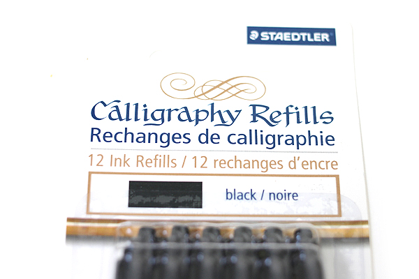 Staedtler Calligraphy Pen Ink Cartridge - Black - Pack of 12 - STAEDTLER 899 R9BK12