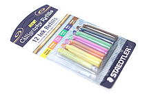 Staedtler Calligraphy Pen Ink Cartridge - Assorted Colors - Pack of 12 - STAEDTLER 899 RASBK12