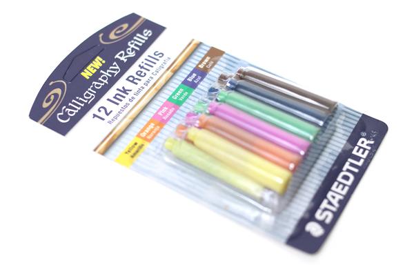 Staedtler Calligraphy Pen Ink Cartridge Assorted Colors