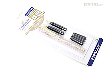 Staedtler Calligraphy Pen Set - 2 Nibs (Fine / Broad) + 4 Black Ink Cartridges - STAEDTLER 899 S2BK