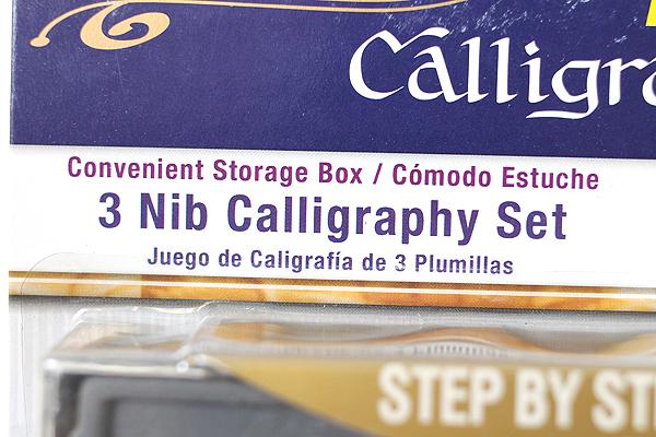 Staedtler Calligraphy Pen Set - 3 Nibs (Extra Fine / Medium / Extra Broad) + 4 Black Ink Cartridges - STAEDTLER 899 S3BK