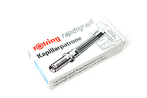 Rotring Rapidograph Pen Capillary Ink Cartridge - Blue - Pack of 3 - ROTRING 590509