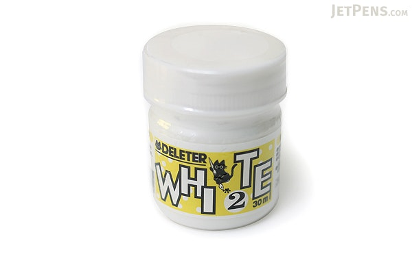 Deleter White 2 Manga Ink - Aqueous White-out & Waterproof - 30 ml Bottle - DELETER 341-0006