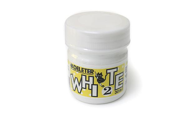 Deleter Manga Ink - 30 ml Bottle - White 2 (Aqueous White-out & Waterproof) - DELETER 341-0006