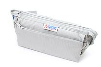 Nomadic PE-09 Flap Type Pencil Case - Light Gray - NOMADIC EPE 09 L.GRAY