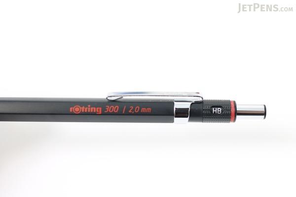 Rotring 300 Lead Holder - 2 mm - Black Body - ROTRING 1904729