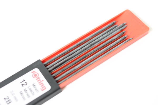 Rotring Lead Holder Refill - 2 mm - 2B - Pack of 12 - ROTRING R505206
