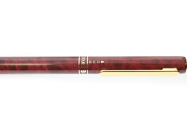 Platinum MWB-2000C 2 Color 0.7 mm Ballpoint Multi Pen + 0.5 mm Pencil - Red Marble Body - PLATINUM MWB-2000C 70