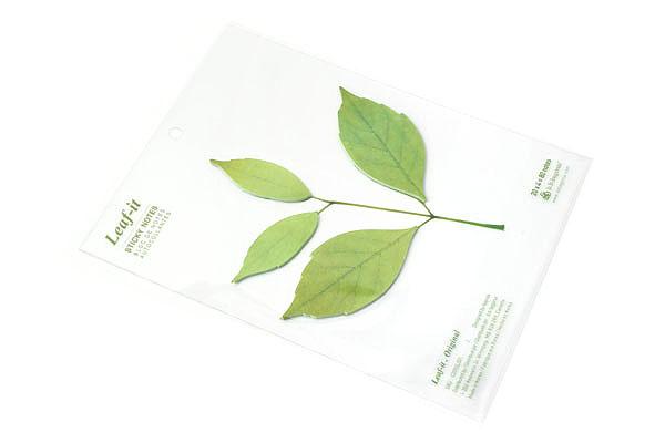 B.B.Begonia Leaf-it Memo Note Set (20 Sheets / Leaf) - Original - Green - C209GL001S