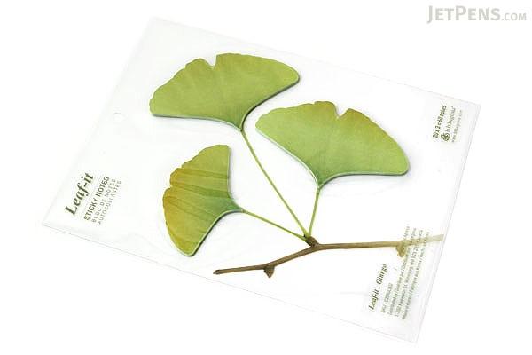 B.B.Begonia Leaf-it Memo Note Set (20 Sheets / Leaf) - Ginkgo - Green - C209GL002S