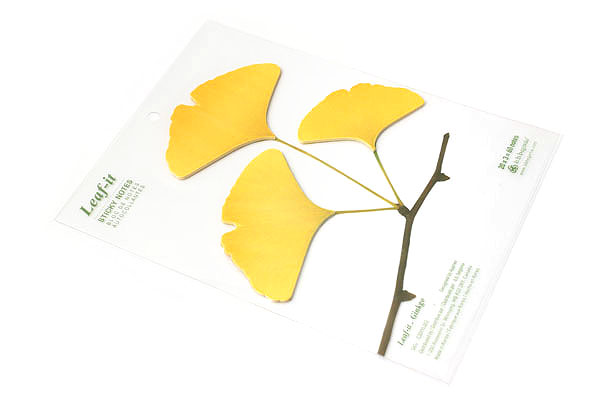 B.B.Begonia Leaf-it Memo Note Set (20 Sheets / Leaf) - Ginkgo - Yellow - C209YL002S