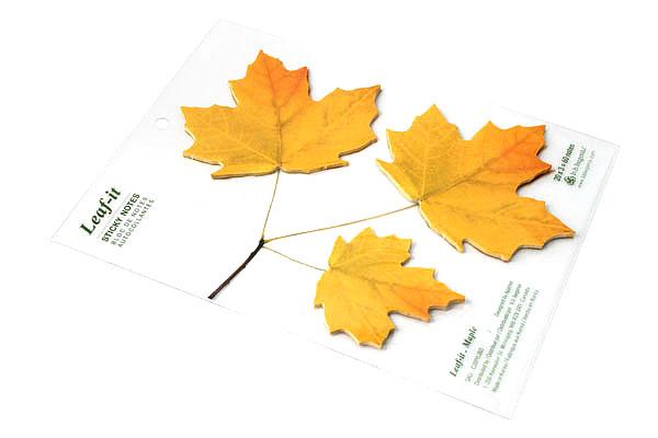 B.B.Begonia Leaf-it Memo Note Set (20 Sheets / Leaf) - Maple - Yellow - C209YL003S