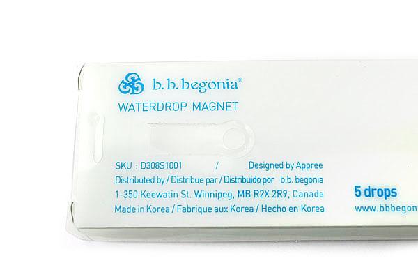 B.B.Begonia Waterdrop Magnet Set - 1 Large + 2 Medium + 2 Small - D308S1001S