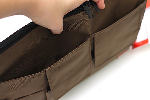 Lihit Lab Teffa Bag in Bag - A4 - Brown - LIHIT LAB A-7554-9
