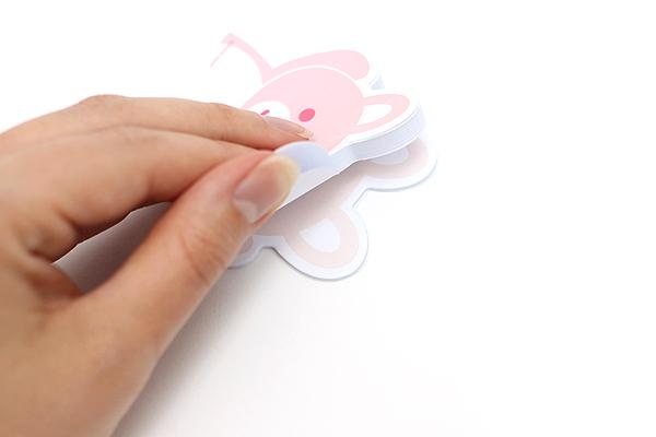 """Adhesive Memo Notes - Animal Series - Rabbit - 2.8"""" X 2.9"""" - 50 sheets  - MZD-02"""